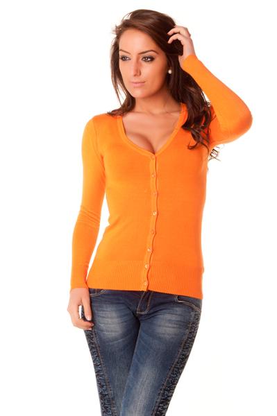 gilet orange femme