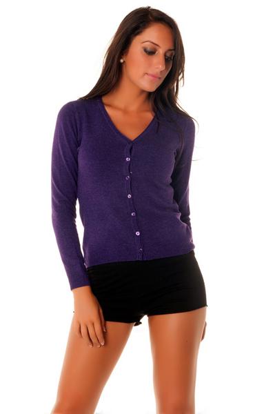 gilet violet femme