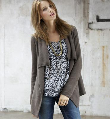 modèle gilet femme tricot