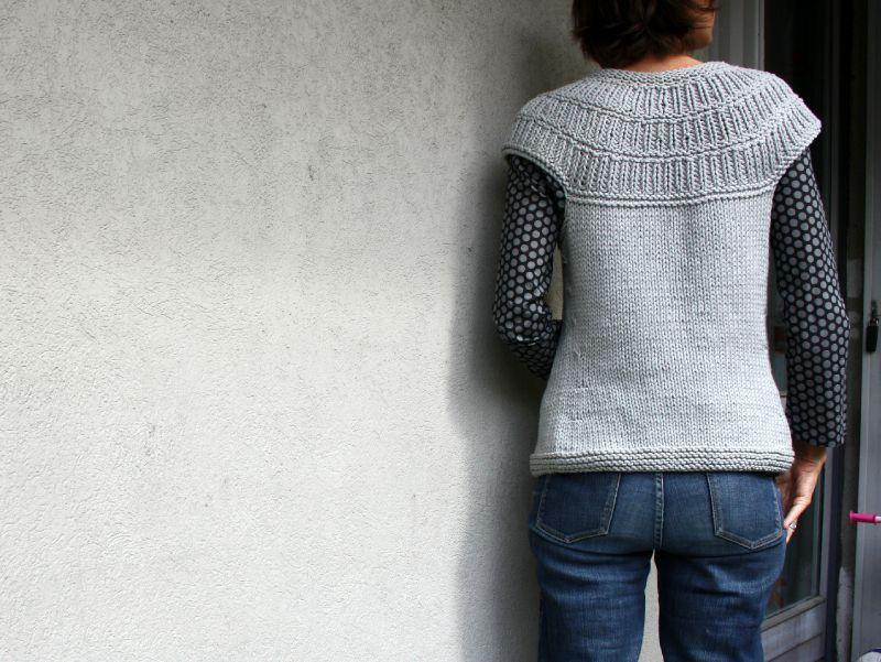 modele gilet sans manche femme tricot